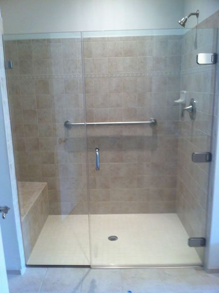 Maryland Shower Enclosures Frameless Inline Door And Panel