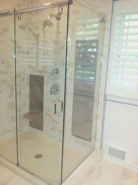 Maryland Shower Enclosures Frameless 90 Degree Slider