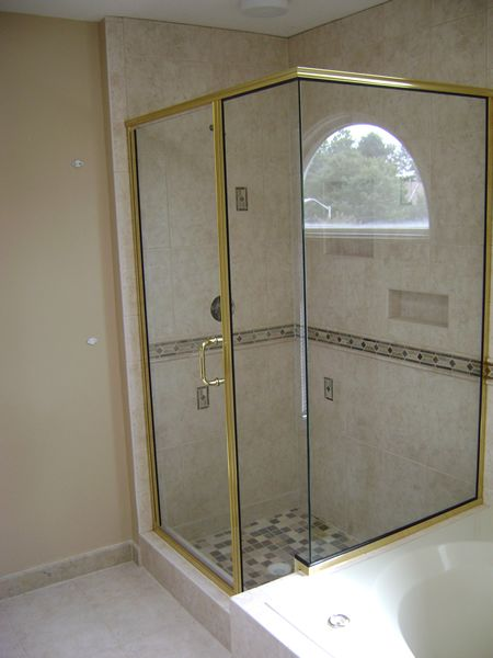 Maryland Shower Enclosures Semi Frameless 90 Degree Corner