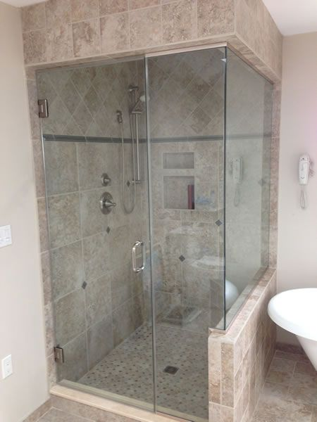 Maryland Shower Enclosures Frameless 90 Degree Steam