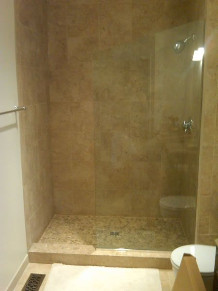 Maryland Shower Enclosures Frameless Inline Splash Panel