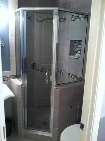Maryland Shower Enclosures Semi Frameless Neo Angle